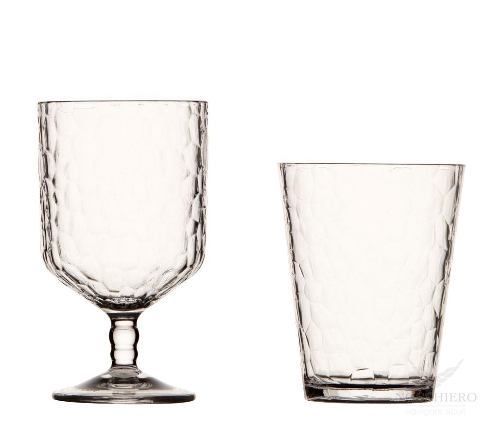 Calici Vino E Acqua set bicchieri da acqua e da vino impilabili